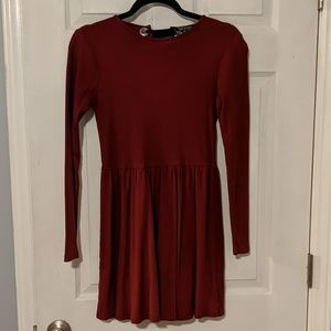 Red TopShop Skater Dress with Open Back